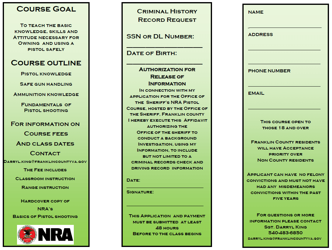 NRA Course
